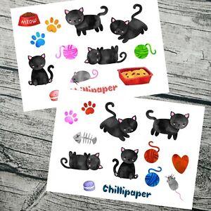 Diligent Cat Stickers, Kawaii Cats, Mignon Autocollant Set, Planner Stickers, Kitty Autocollants,-afficher Le Titre D'origine Le Prix Reste Stable