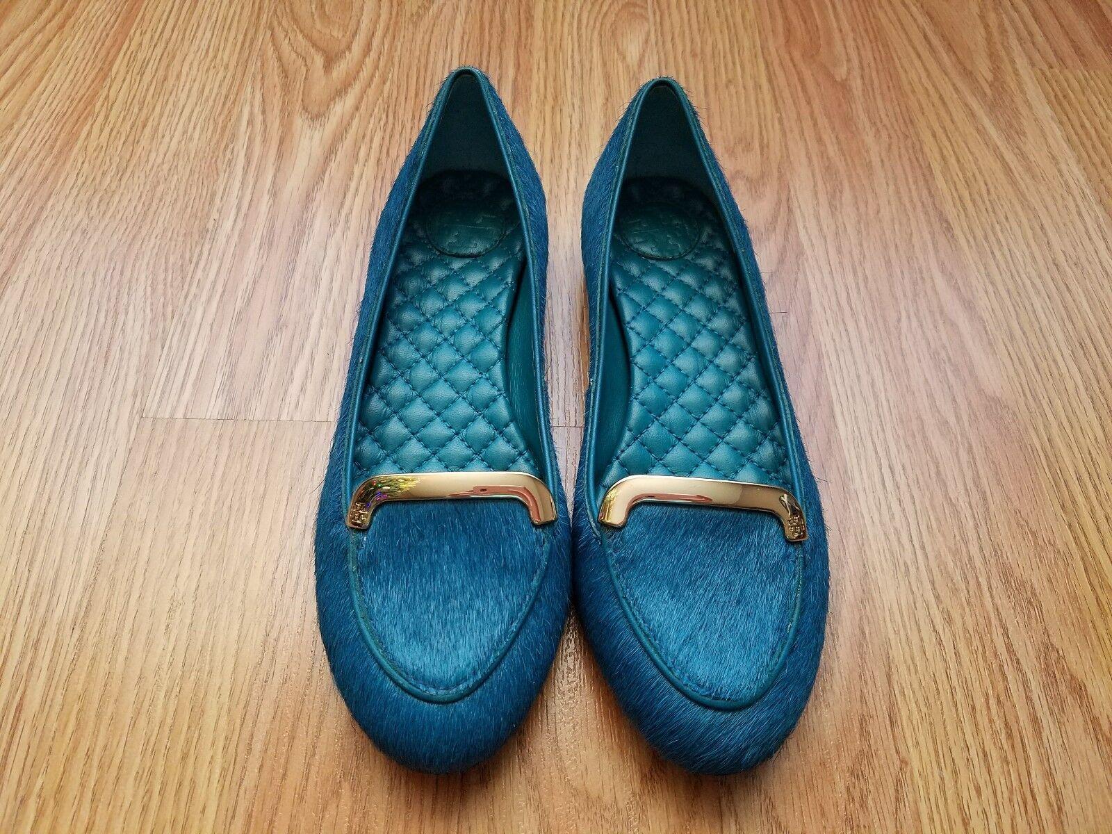 Tory Tory Tory Burch Jess Electric bluee Calf Hair Flats - bluee - Size 5 9ceb50