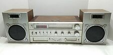 Vintage Lenoxx Sound AM/FM Clock Radio 8-Track/Cassette/Speakers CR-2000- Works!