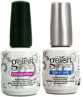 Gelish Duo Top It Off + Foundation Base Coat - 15ml (for Uv/led Gel Nail Polish) on sale
