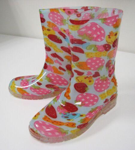 New Children/'s Rain Boots Print Colors Kids Boys Girls  Snow Slip On Sizes:11-3