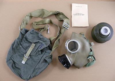 Polish Poland gas mask polish army MC-1  PRL complete gasmask+bag