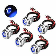 5pcs 19mm 12v Waterproof On Off Latching Push Button Switch With Wiring Harness