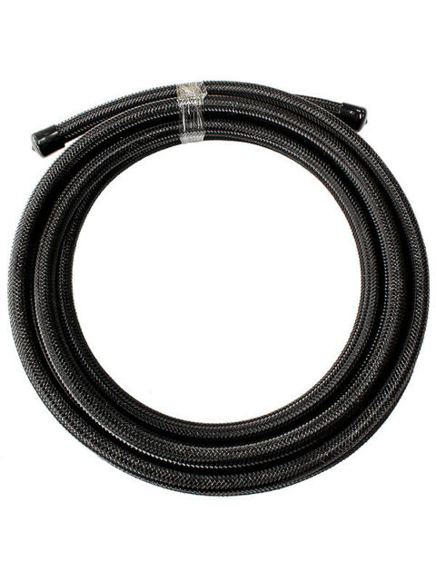 Aeroflow 100 Series S/Steel Braided Hose -6AN 30M Black (AF100-06-30MBLK)