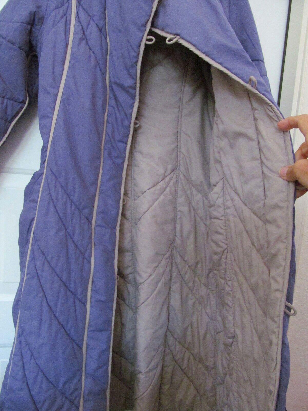 PORTRAIT Quilted Coat Reversible Lavender Beige Women's NO SIZE TAG TAG TAG S M 26748d