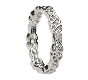 Image Is Loading Shanore Sterling Silver Celtic Knot Wedding Ring With