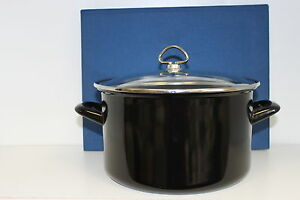 CHANTAL-DUTCH-OVEN-6-QT-BLACK-Enamel-on-Steel-PAN-SOUP-LIDDED-EC-UNUSED