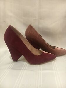 Asos Women's Mauve Suede and Corduroy Heels US size 5 Like New