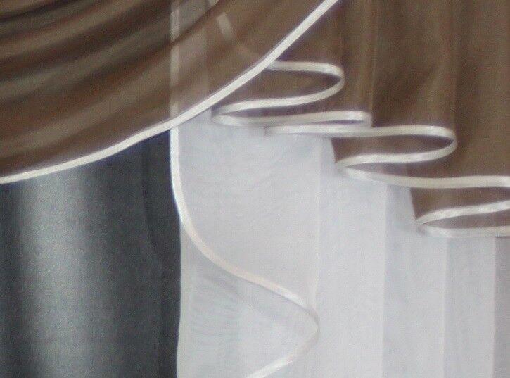 Deko Deko Deko - Gardine, Store, Vorhang in der Farbe nougat   weiß | Moderner Modus  95d104