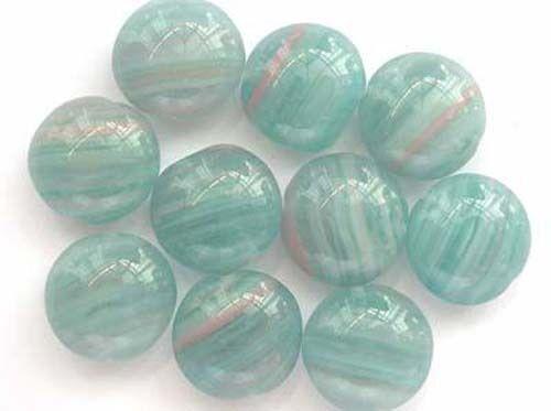 10 LIGHT GREEN lentil Czech glass beads 13mm