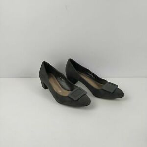 WOMENS-M-amp-S-MARKS-SPENCER-BROWN-FAUX-SUEDE-SLIP-ON-HIGH-HEELS-SHOES-UK-6-EU-39