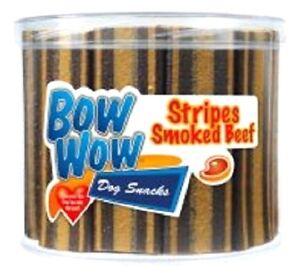 STRIPES-35g-x3-x40-Bow-Wow-Dog-Treat-Food-bp-Smoked-Beef-Snack-Meat-Chew