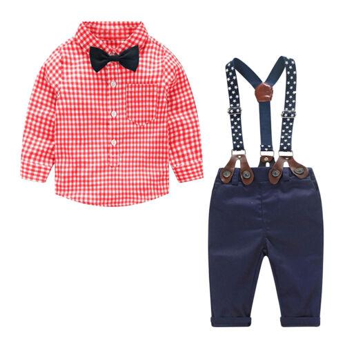 Baby Jungen Kleidung Outfits Sets Herbst Kleidung Anzug Hosenträger Hemd
