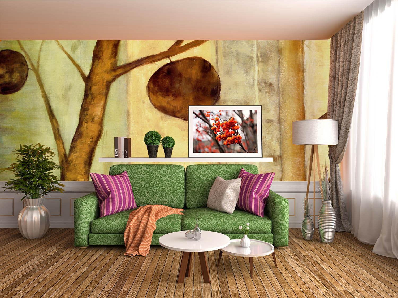 3D Verwelkte Blätter 2312 Fototapeten Wandbild Fototapete BildTapete Familie DE
