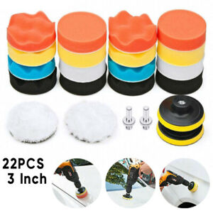 22-PCS-Car-Foam-Drill-Polishing-Pad-Kit-High-Quality-3-Inch-Buffing-Pads