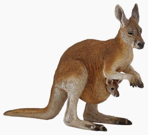 Personaggio//personaggio del gioco PAPO Animali Selvatici 50188 canguro con Baby-NUOVO