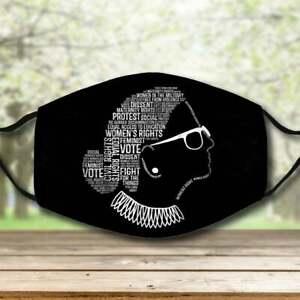 Ruth Bader Ginsburg Notorious RBG RIP face mask