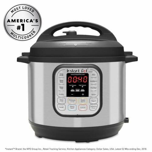 Instant Pot DUO60 6 Qt 7-in-1 Multi-Use Programmable Pressure Cooker Slow Coo...