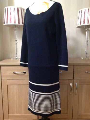100 b4u Lovely s Jaeger Dress Wool End In Size Condition Stripe d66v1q8
