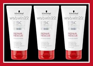 3pcs-SCHWARZKOPF-BONACURE-Repair-Rescue-sealed-ends-75ml-damaged-hair-treatment