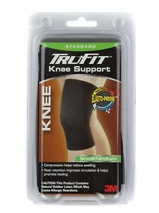 2e584af487 3M Tru-Fit Neoprene Blend Standard Knee Support Brace (Black, Small ...
