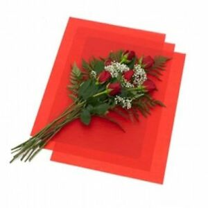 Red floral waxed tissue paper bouquet wrapping 24x36 x large image is loading red floral waxed tissue paper bouquet wrapping 24 mightylinksfo Gallery