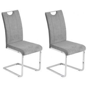 2er Set Stuhl Schwingstuhl Küchenstuhl Esszimmerstuhl Microfaser