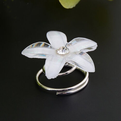 5 X Crystal Bridal Hair Spin Pins Twists Coils Flower Swirl Spiral Hairpins
