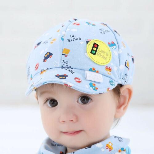 Cute Baby Kids Boys Girls Toddler Infant Hat Little Car Baseball Beret Cap Blue