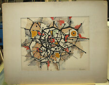 Ralph Wehrenberg '60s Abstract Expressionist WC Listed NY School Modern Artis