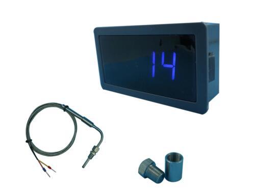 EGT Gauge (Blue LED) for Exhaust Temperature Sensors with Weld Bund Combo