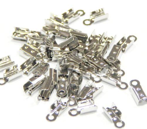 100 remates tapas de metal 6mm para collar pulseras joyas bricolaje m19