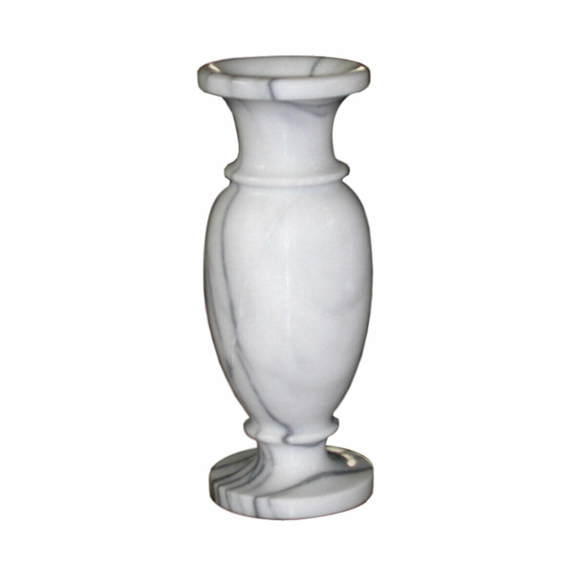 Vaso Marmo Portafiori Stile Classico Vintage Centerpiece Weiß Marble Vase H33cm