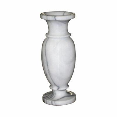 Vaso Marmo Portafiori Stile Classico Vintage Centerpiece White Marble Vase H33cm Prendiamo I Clienti Come Nostri Dei