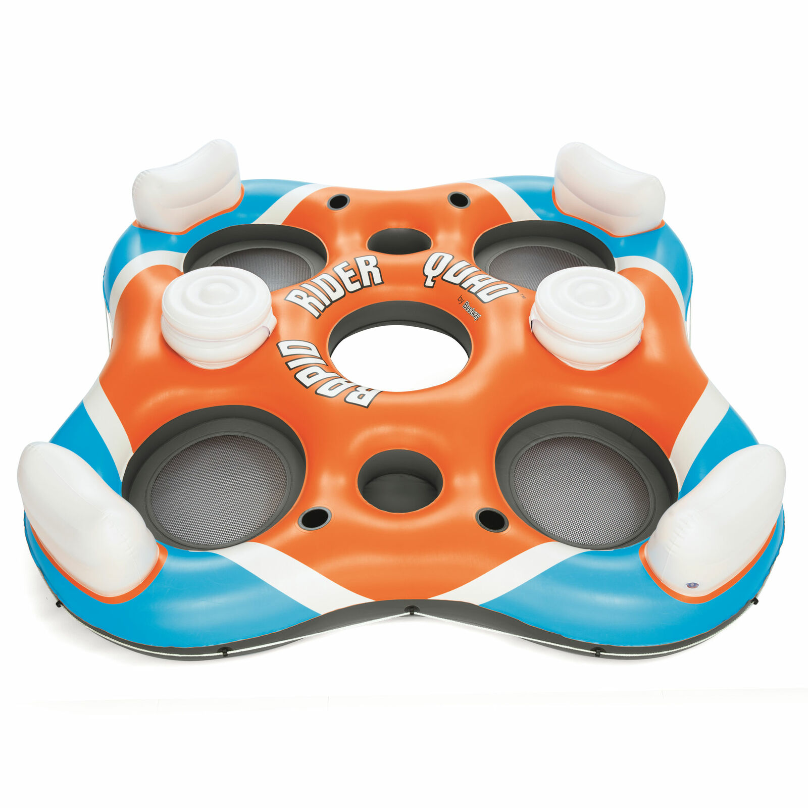 Bestway 43115E 101 Inch Rapid Rider 4 Person Floating Island Raft w  Coolers