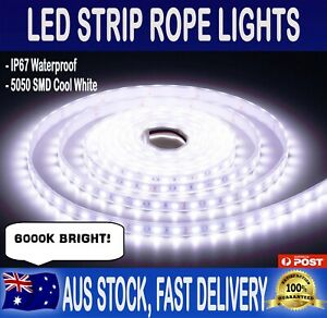 5m Flexible Bright Led Strip Lights 12v Waterproof 5050 Smd Cool White 300 Leds Ebay