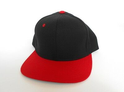 Hats Yupoong Black/red Baseball Cap Snapback FüR Schnellen Versand Clothes, Shoes & Accessories