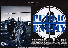 """TOUR POSTER~Public Enemy Grand Forum 1995 Flavor Flav Chuck D 30x40"""" UK Quad NOS"""