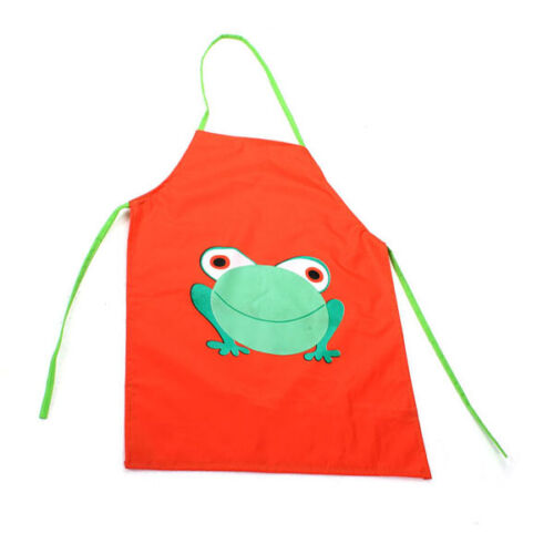 Blue Accessotech Child Childrens Waterproof Apron Cartoon Frog Printed Painting Cooking Craft Art Barbecue Accessories Tsunamicompany Aprons