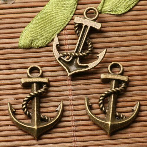 12pcs antiqued bronze color anchor design  charms  EF3332