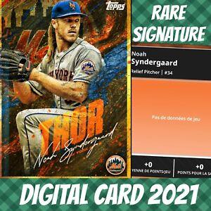 Topps Bunt 20 Noah Syndergaard Nicknames Hold Signature Mets S/2 2021 Digital