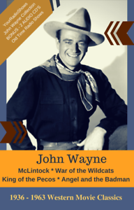 Details about John Wayne Collection-4 Classic Westerns on DVD & 2 BONUS Old  Time Radio Shows!