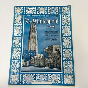 Whiffenpoof-Song-Vintage-1936-Sheet-Music-Yale-University-Minnigerode-Pomeroy