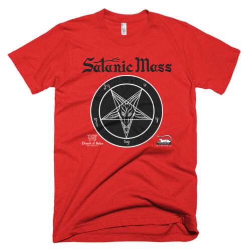 Satanic Mass Album Cover T-Shirt Satanism Satan Church Temple Set Lucifer Witch