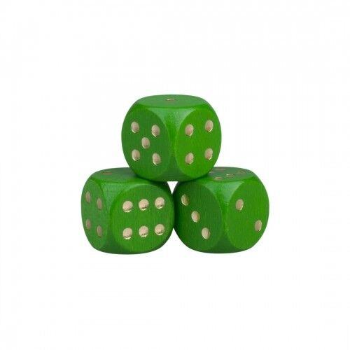 Dice - 0 25 32in - Wood - Green