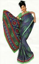 Chiffon Bollywood Karneval Sari Orient Indien Fo304
