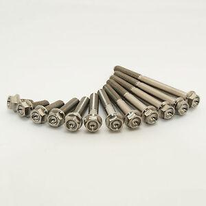 M6 titanium tête hexagonale bride bolt M6x20mm