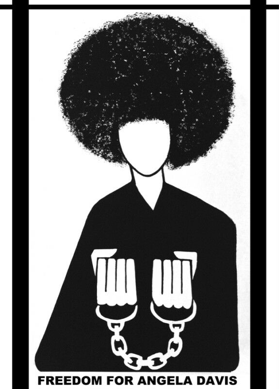 Civil Right Political Poster.Freedom Angela Davis.Home Interior art design.1404