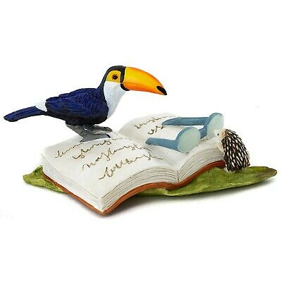 Miniature Dollhouse Accessories FAIRY GARDEN Figurine ~ Toucan Bird w Butterfly