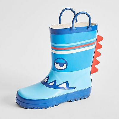 NEW Cameron Junior Monster Face Rainboots Kids